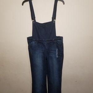 Lola Detachable Bib Overalls Jeans Dark Wash Sz 9